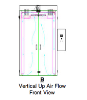Vertical Up Air Flow Front View